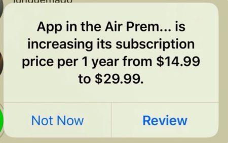 Apple、iOS/iPadOSでアプリのサブスクリプション価格が値上げの場合ユーザーにアラートを表示