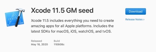 Xcode 11 5 GM seed 00001 z