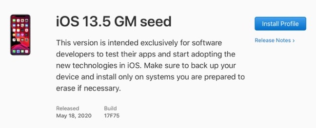 IOS 13 5 GM seed 00001 z