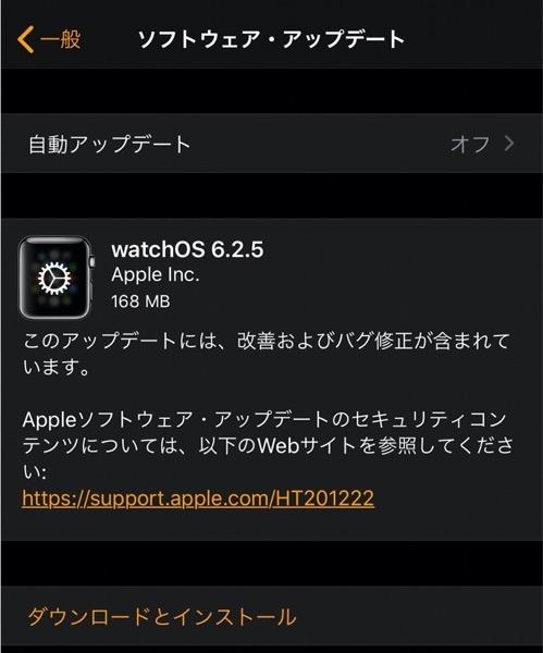 WatchOS 6 2 5 00001 z