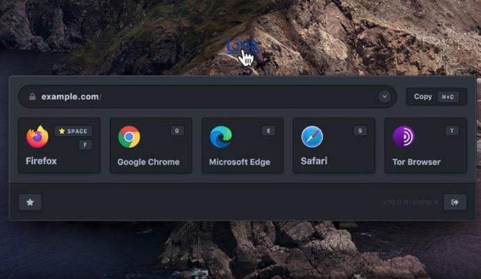 【Mac】ブラウザの選択項目をメニューバーに表示、無料の「Browserosaurus 10.5」