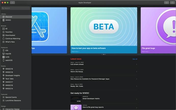 Apple、開発者向けアプリをアップデートし、WWDCに関する新しい情報を提供
