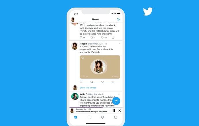 iOS版Twitter、音声ツイート機能の追加を発表