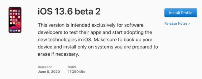 IOS 13 6 beta 2 00001 z
