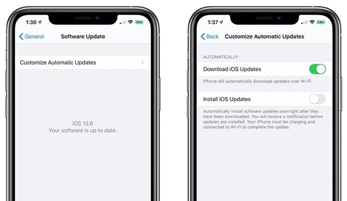 iOS 13.6 ベータ版、iOSアップデートの自動ダウンロードをオフにするトグル等の新機能および変更