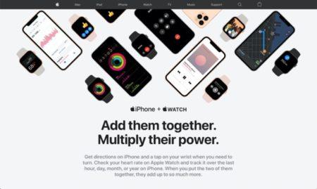 Apple、iPhoneとApple Watchを一緒で使う場合の利点を示すWebサイトを公開