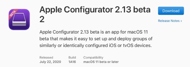 Apple Configurator 2 13 beta 2 00001 z