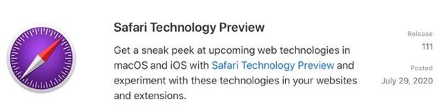 Safari Technology Preview 111 00001 z
