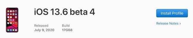 IOS 13 6 beta 4 00001 z