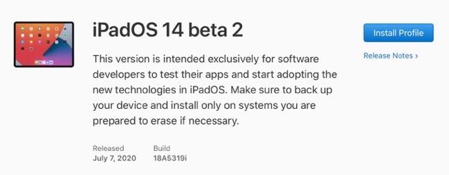 IPadOS 14 beta 2 00001 z