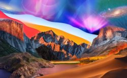 MacOS 10.0 CheetahからmacOS 11.0 Big Surのすべての壁紙を一つにした画像