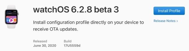 WatchOS 6 2 8 beta 3 00001 z