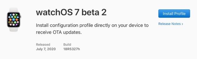 WatchOS 7 beta 2 00001 z