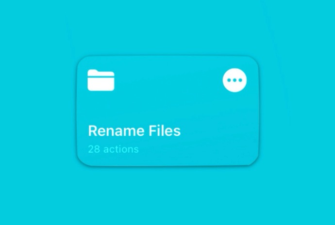iOSのファイル名を一括変更する、ショートカット