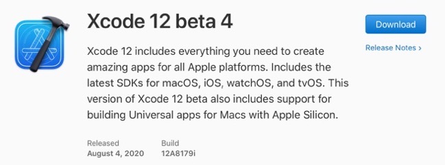 Xcode 12 beta 4 00001 z