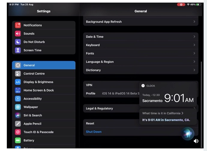 iPadOS 14では、Siriとアプリを同時に操作できるようになる