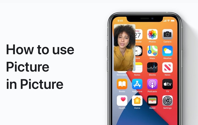 Apple Support、iPhoneおよびiPod touchでPicture in Pictureを使用する方法のハウツービデオを公開