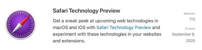 Safari Technology Preview 113 00001 z