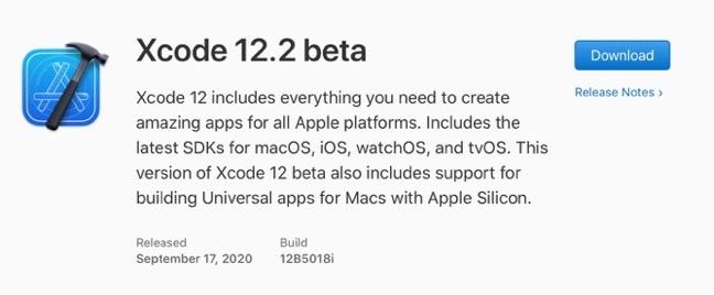Xcode 12 2 beta 00001 z