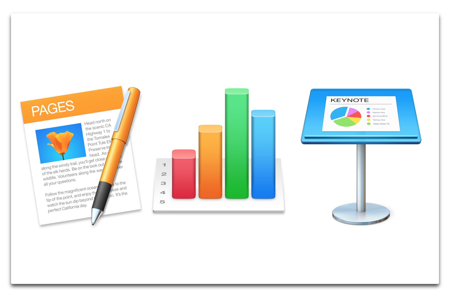【Mac】Apple、「Pages 10.2」「Numbers 10.2」「Keynotes 10.2」をリリース