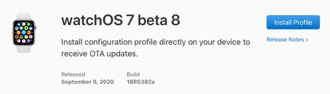 WatchOS 7 beta 8 00001 z