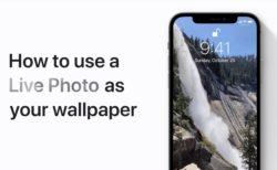 Apple Support、iPhoneでLive Photoを壁紙として使用する方法のハウツービデオを公開