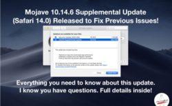 Apple、macOS Mojave 10.14.6以前の問題を修正する「Supplemental Update」をリリース