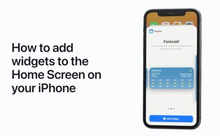 Apple Support、iPhoneのホーム画面にウィジェットを追加する方法のハウツービデオを公開