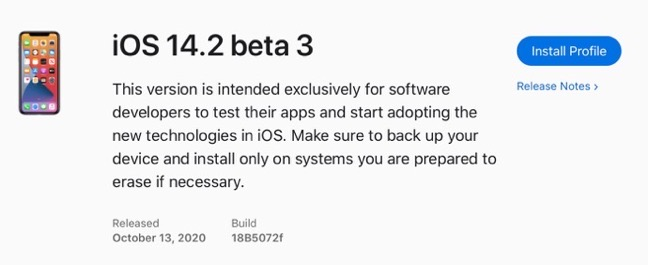 IOS 14 2 beta 3 00001 z
