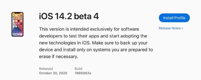 IOS 14 2 beta 4 00001 z