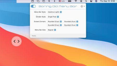 macOS Big Surの透明/半透明メニューバーをmacOS Catalinaのメニューバーにする「Boring Old Menu Bar」