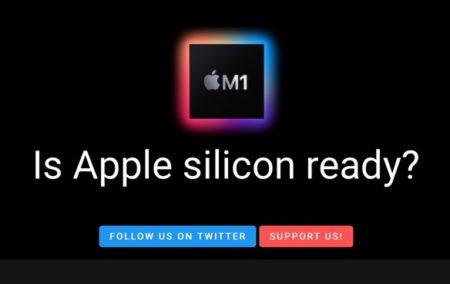 Apple Silicon M1 Macとの互換性アプリデータベースWebサイト「Is Apple silicon ready?」