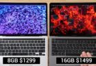 Apple M1 MacBook Pro、8GB RAMと16GB RAMのパフォーマンスの違いのビデオを公開