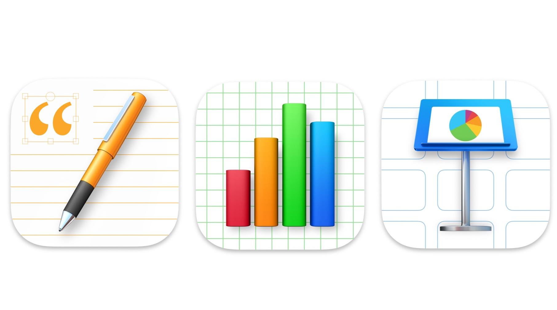 Apple、macOS Big Surの新デザインに合わせた、Iconも変更されたiWorkをリリース