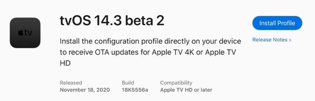 TvOS 14 3 beta 2 00001