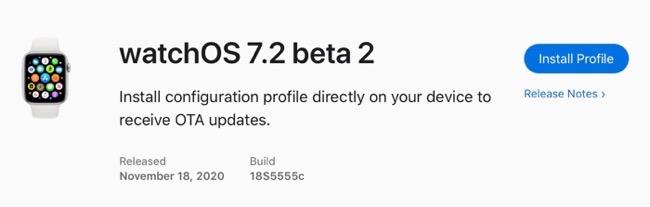 WatchOS 7 2 beta 2 00001