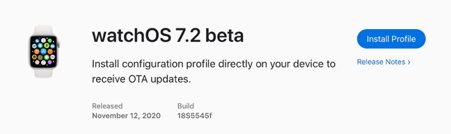 WatchOS 7 2 beta 00001
