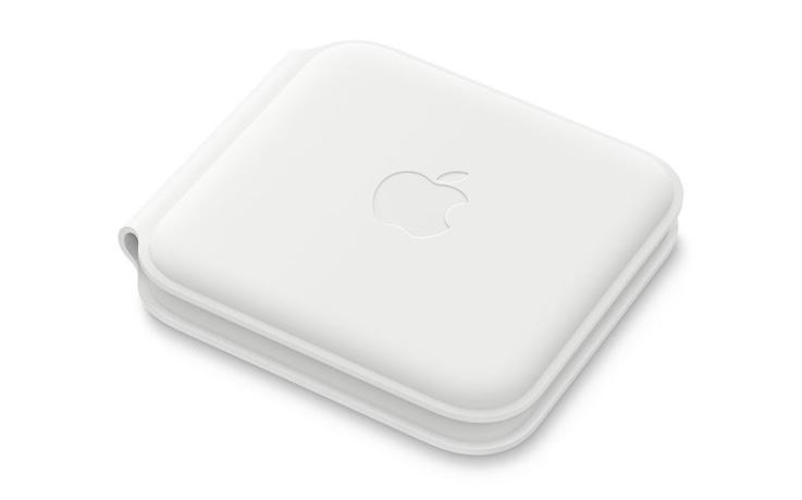 Apple MagSafe デュアル充電パッド、折りたたんだ状態にしておくとヒンジ部分が時間の経過とともにしわになることがある