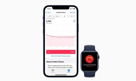 Apple Watchで心肺機能の通知が利用可能に