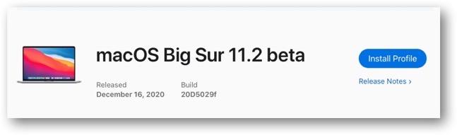 MacOS Big Sur 11 2 beta 00001
