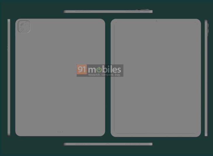 2021年 11インチおよび12.9インチiPad Pro のCADレンダリングでお馴染みのデザインが公開