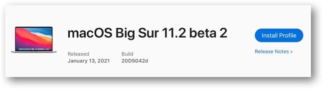 MacOS Big Sur 11 2 beta 2 00001
