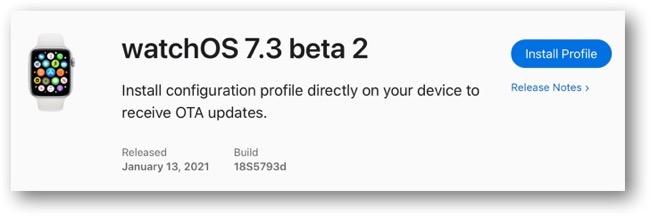WatchOS 7 3 beta 2 00001