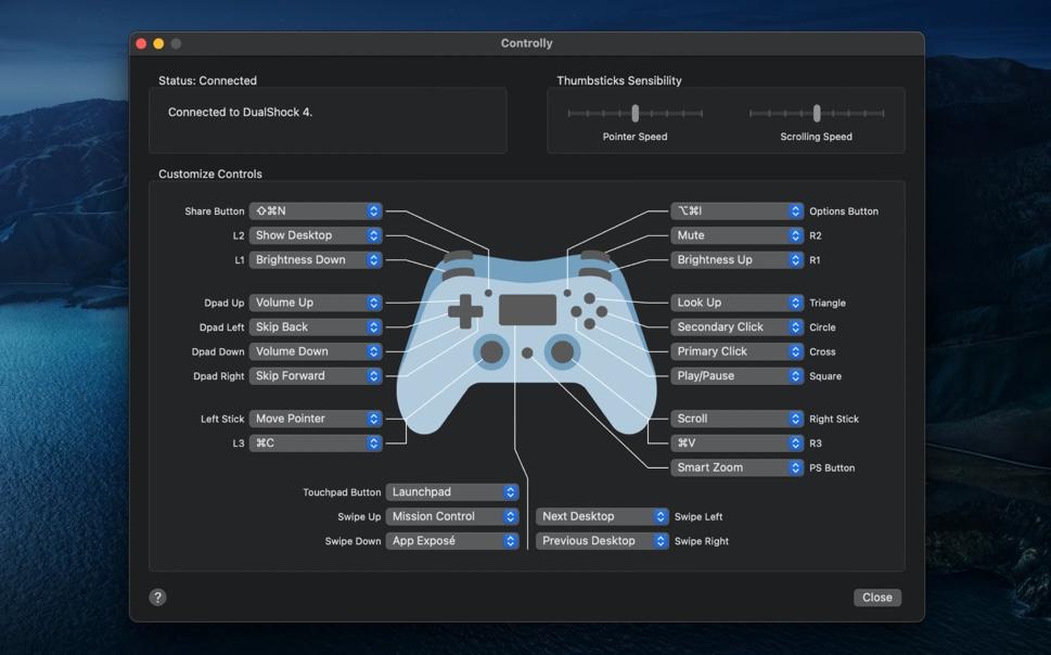 ゲームコントローラをMacのリモコンに変えるアプリ「Controlly」