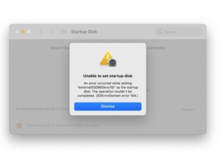 M1 Macで外部ブートディスクが未だ正常に機能しない