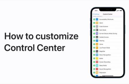Apple Support、iPhone、iPadでコントロールセンターをカスタマイズする方法のハウツービデオを公開