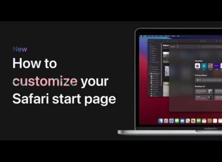 Apple Support、MacでSafariスタートページをカスタマイズする方法のハウツービデオを公開