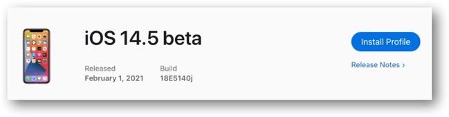IOS 14 5 beta 00001