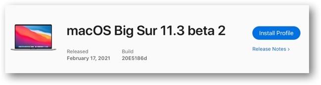 MacOS Big Sur 11 3 beta 2