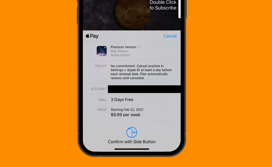 Apple、iOS 14.5のサブスクリプションシートをアップデートし、価格やお試し情報をより明確に
